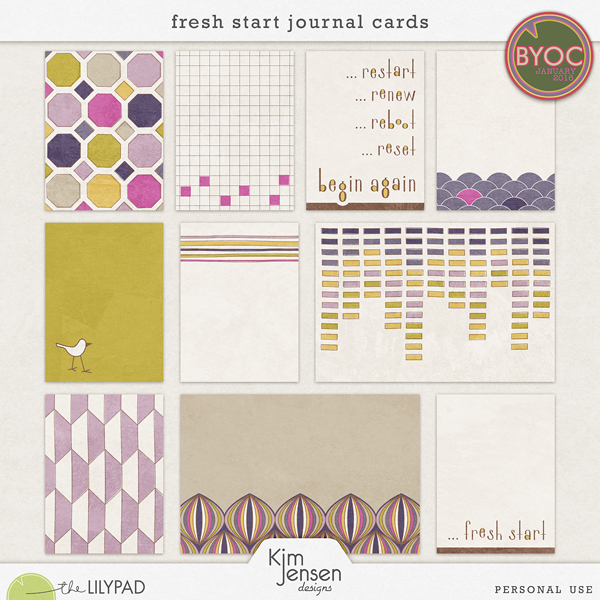 Fresh Start Journal Cards