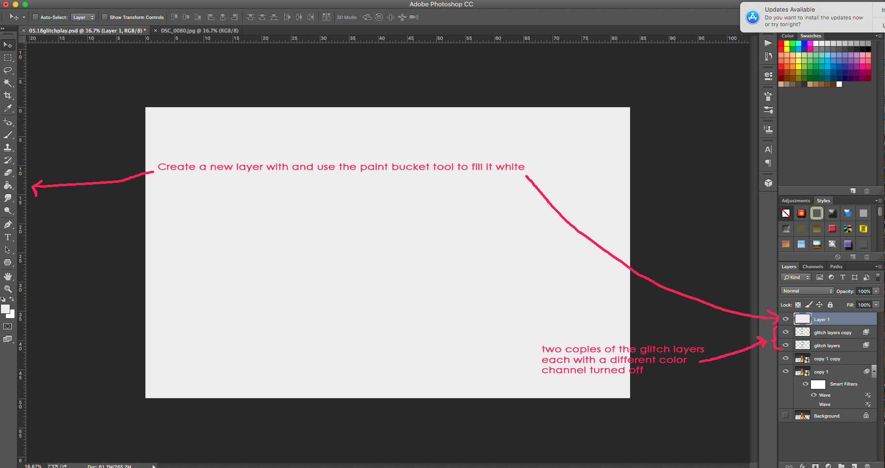 Create layer for lines.jpg
