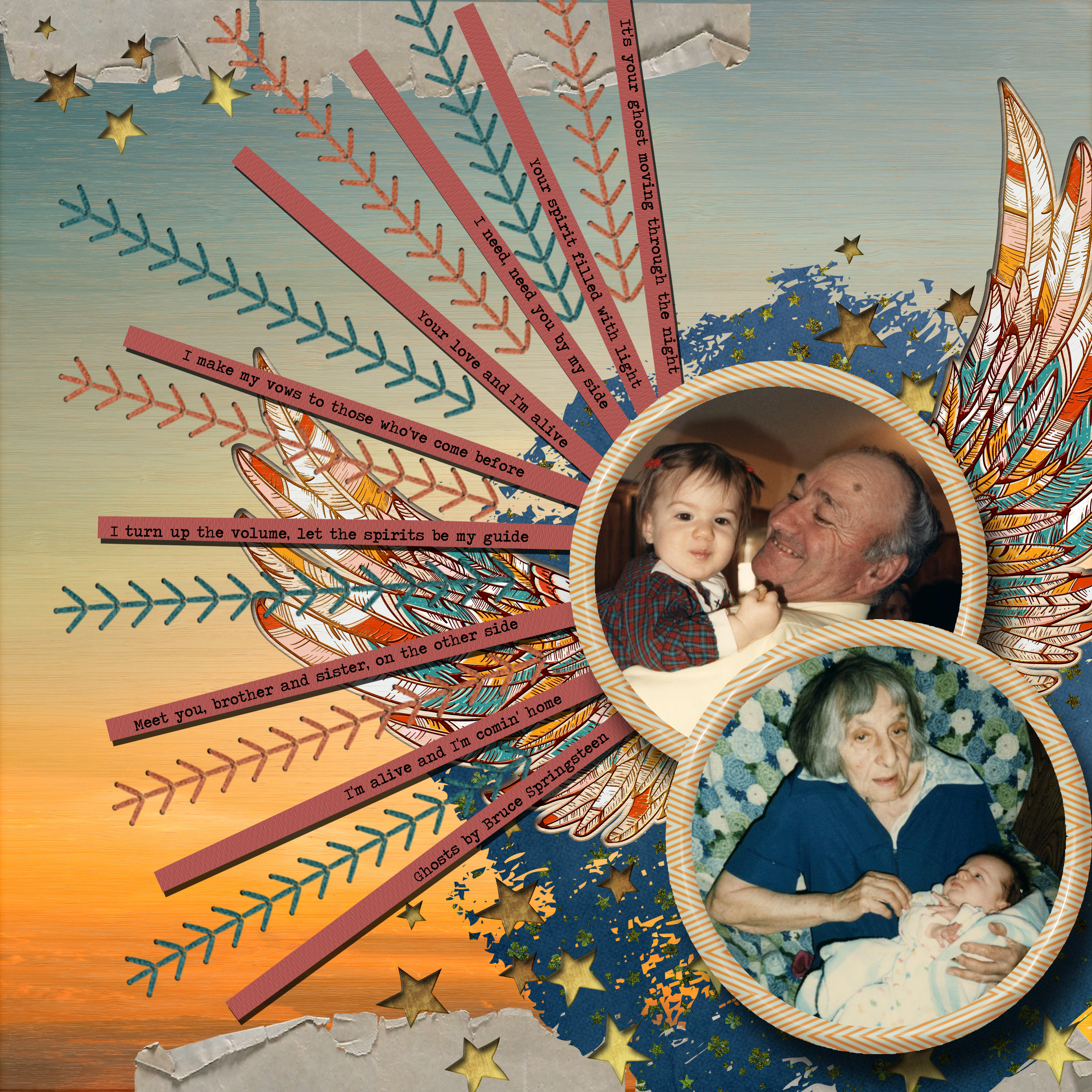 February Inspiration Challenge Ghosts by Bruce Springsteen Miss you Dad and Grandma.jpg