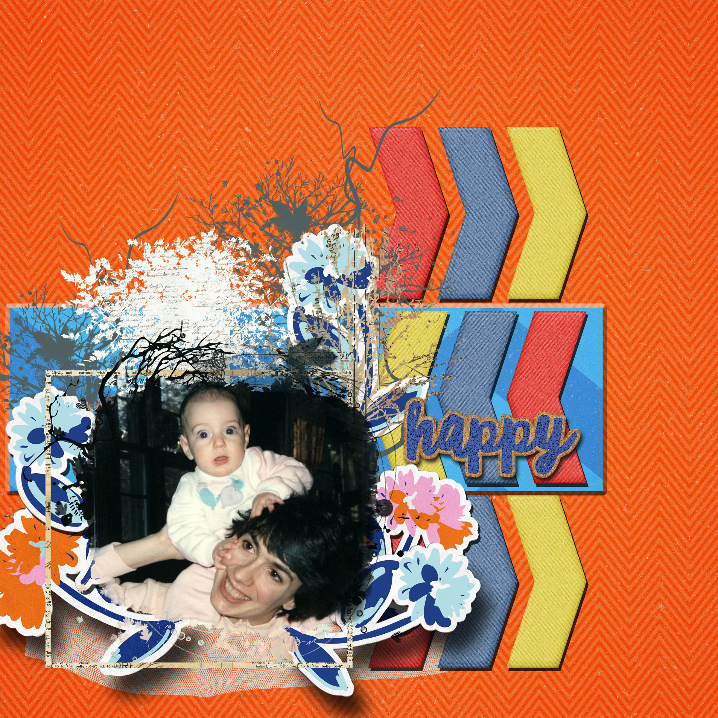 July Challenge Chevrons Kelly and Me..jpg