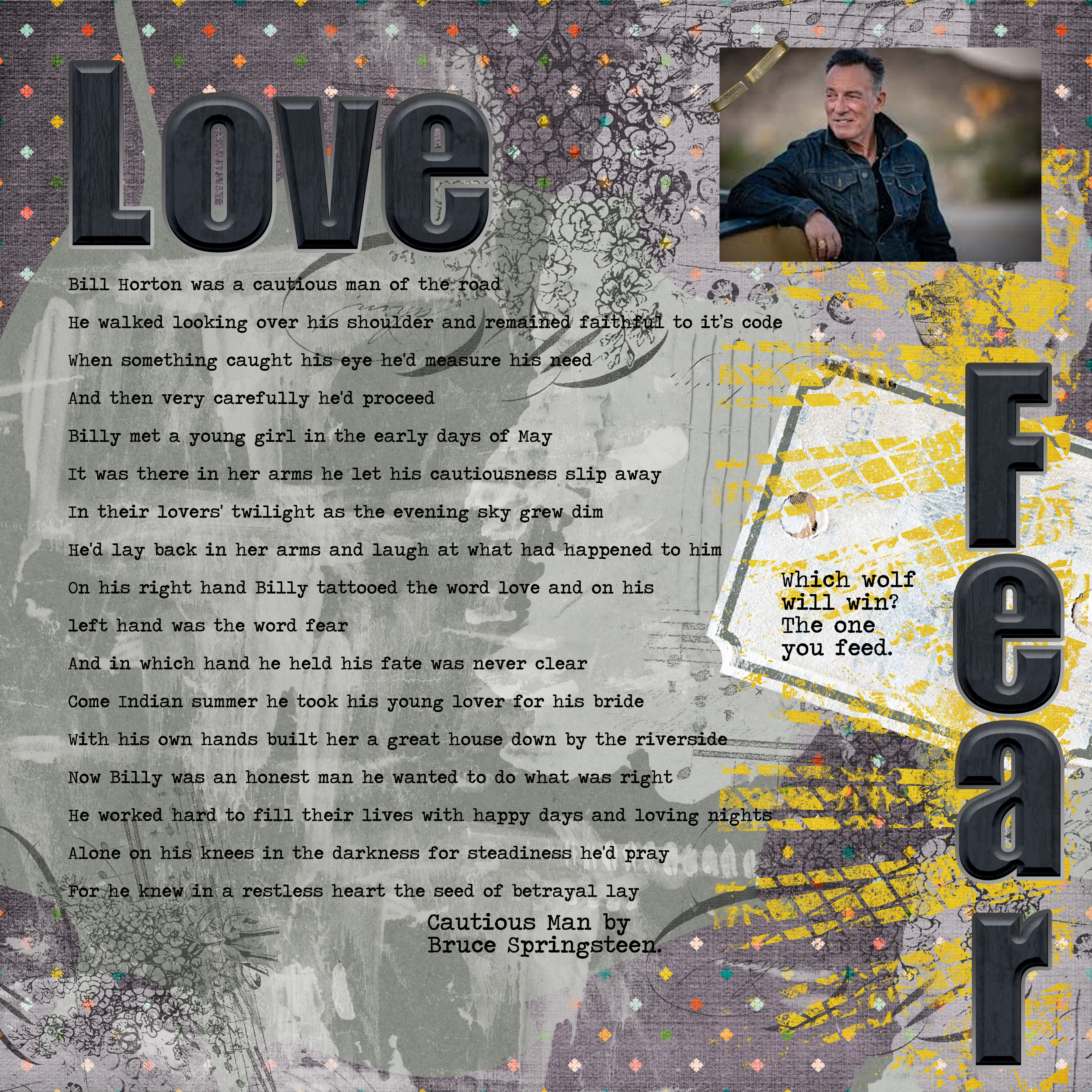 Love and fear which wolf will you feed.jpg