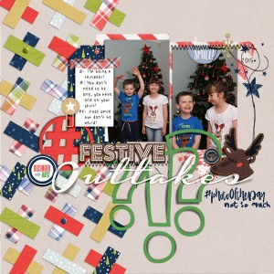 Nov Journal chall -xmas card outtakes