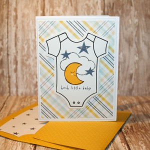 Baby Card  with matching envie