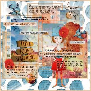 Art Journaling-Monthly Muse-August-Signs Of Direction-Week #3-Sense Of Direction