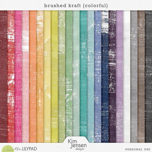 Brushed Kraft {Colorful}
