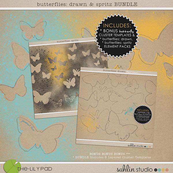 Butterflies: Drawn & Spritz Combo