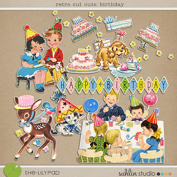 Retro Cut Outs: Birthday