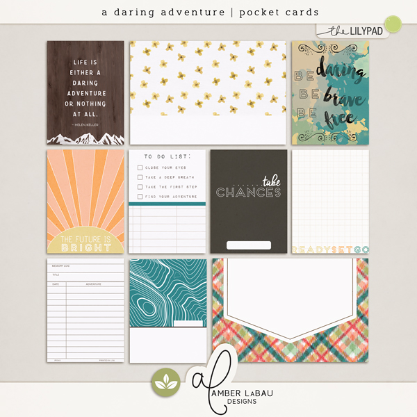 A Daring Adventure {pocket cards}