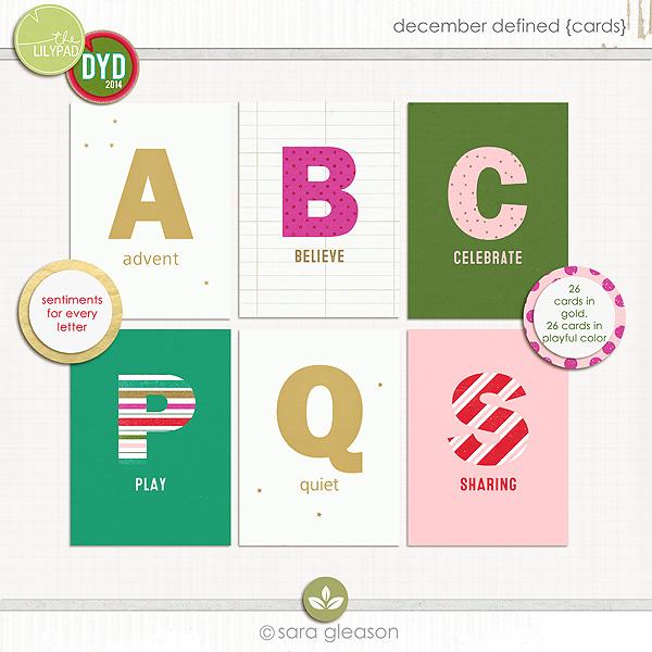 December Defined {cards}