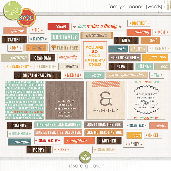 Family Almanac {Words}