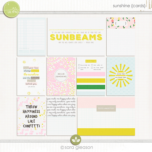 Sunshine {pocket cards}