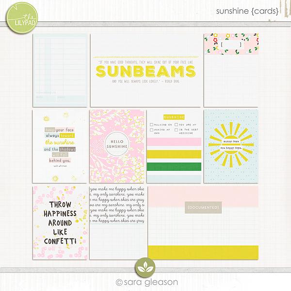 Sunshine {pocket cards}