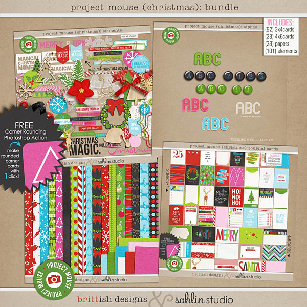 "Project Mouse: BUNDLE ""Christmas Edition"" by Britt-ish Designs and Sahlin Studio"