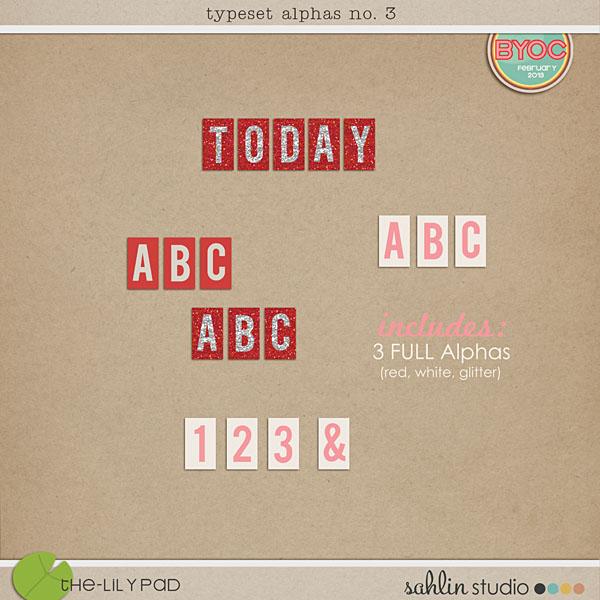 Typeset Alphas No. 3