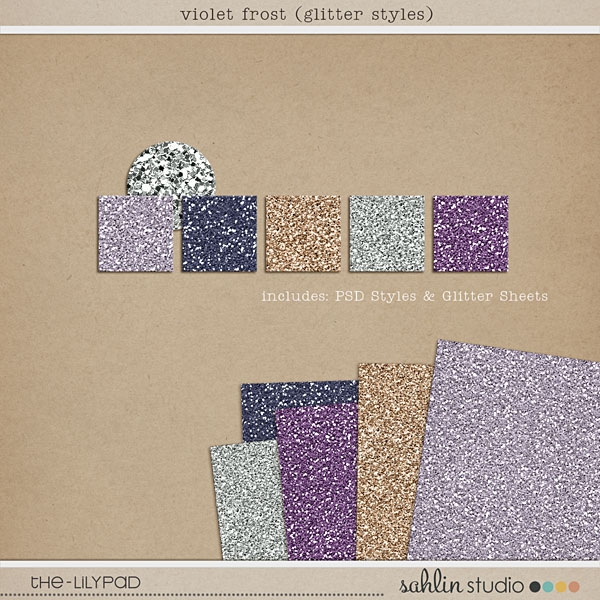 Violet Frost Glitter Styles
