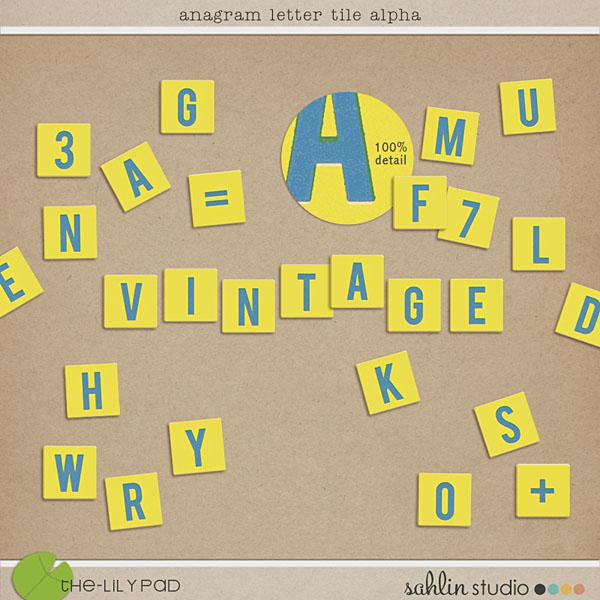 Anagram Letter Tile Alpha