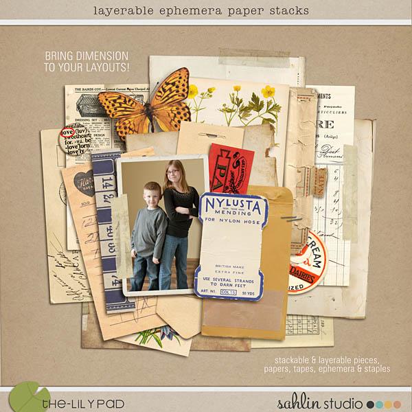 Layerable Ephemera Paper Stacks
