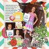 Digital Scrapbook Page by Amie