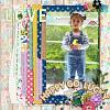 Digital Scrapbook Page by Shivani