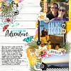 Digital Scrapbook Page by Stefani