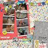 Digital Scrapbook Page by Stefani