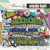 DIGITAL SCRAPBOOKING | FOREVERJOY DESIGNS | STUDY HALL