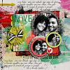 Digital Scrapbook Page by Amanda
