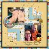 Digital Scrapbook Page by Kimberley