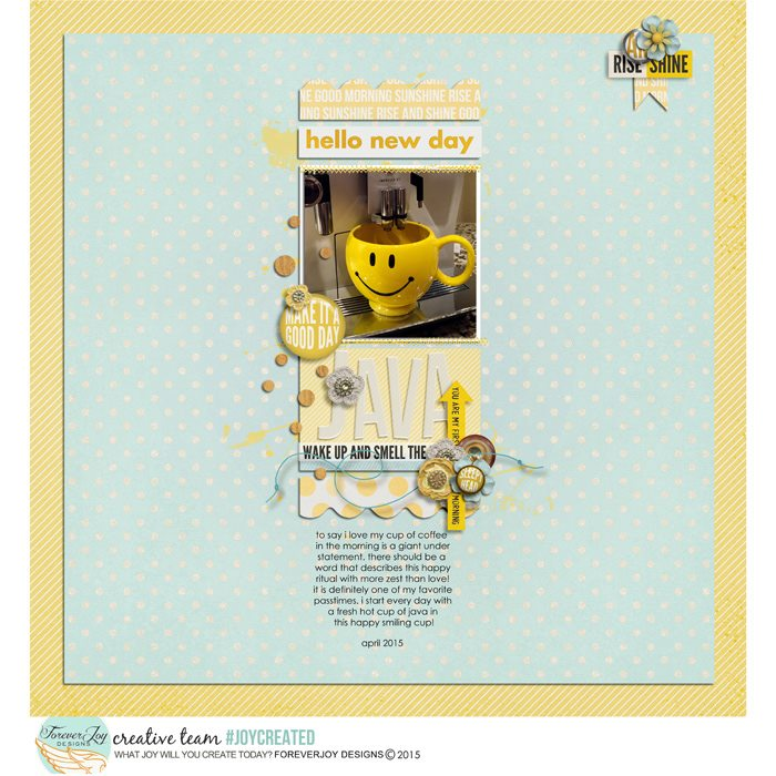 RISE AND SHINE | Digital Scrapbooking| by ForeverJoy Designs