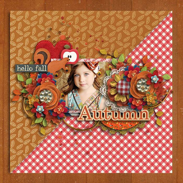 HELLO FALL | Digital Scrapbooking Kit | by ForeverJoy
