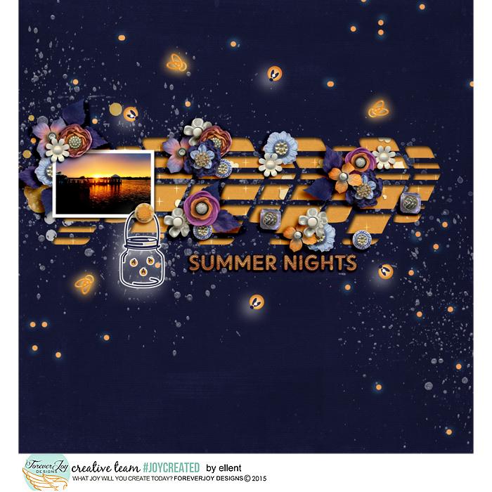 NIGHT LIGHTS | Digital Scrapbooking Kit | by ForeverJoy Designs