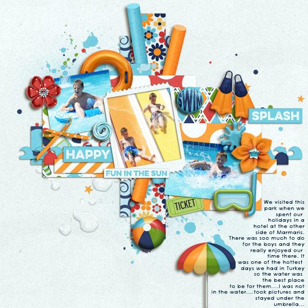 Digital Scrapbook Kit Water Park Kristin Aagard