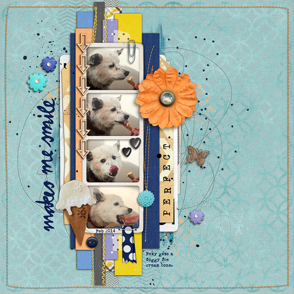 Layout by Christine (christineirion) - mask used to blend background