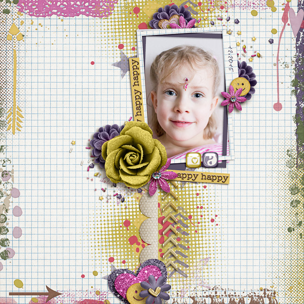 Digital Scrapbook Page by Katya