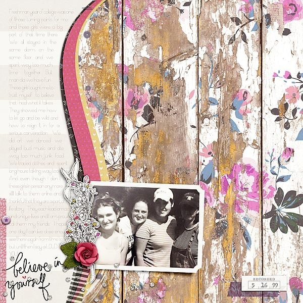 Digital Scrapbook Page by