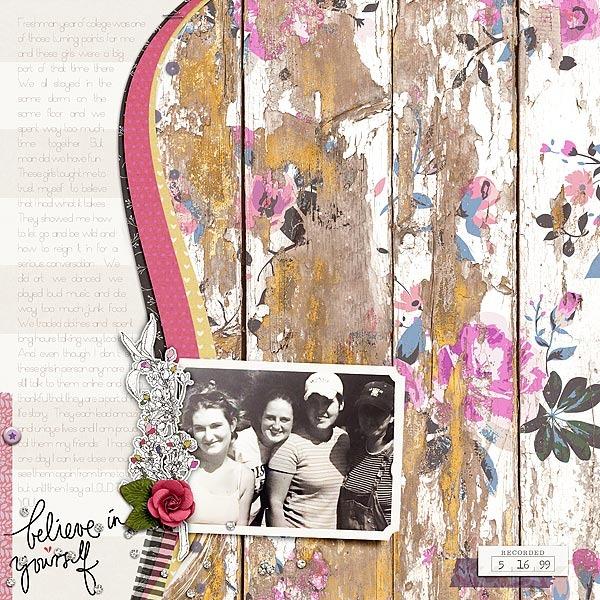 Digital Scrapbook Page by