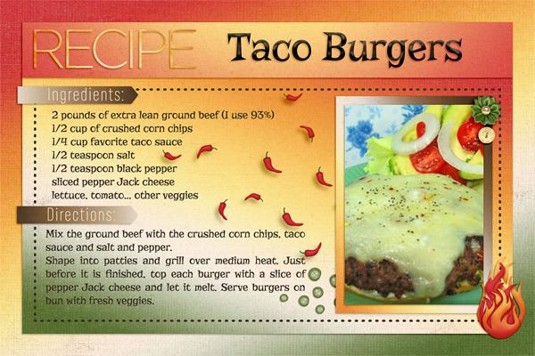 Digital Scrapbook Templates - 4x6 Recipe Card 2 ...