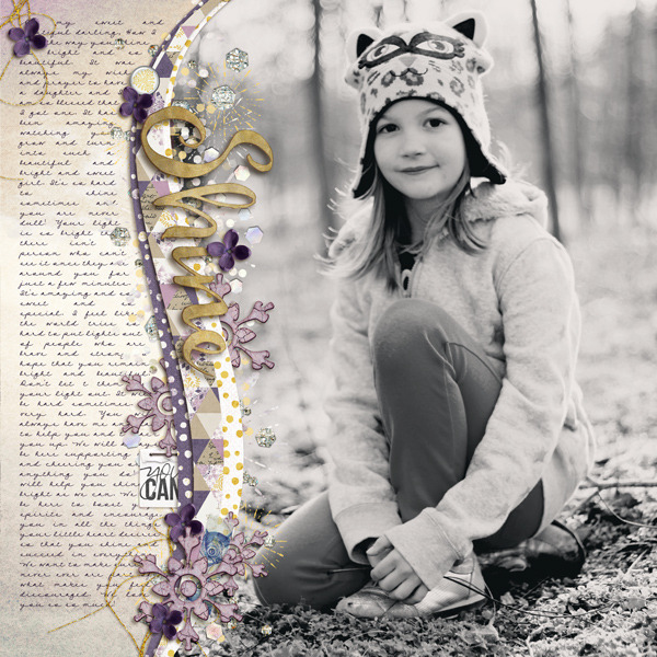 Digital Scrapbook Page by Crystal