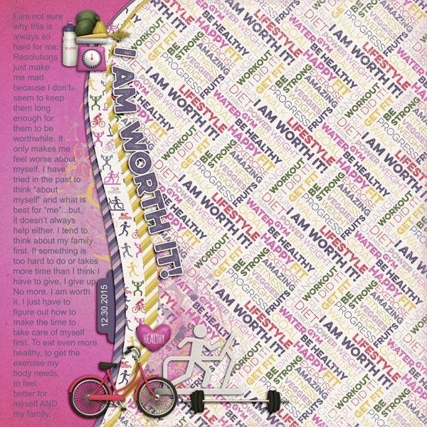 Digital Scrapbook Page by Keela