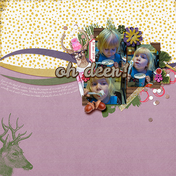 Digital Scrapbook Page by Lorry