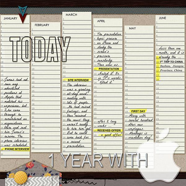 Digital Scrapbook Template Perpetual Calendar Scrapping With Liz