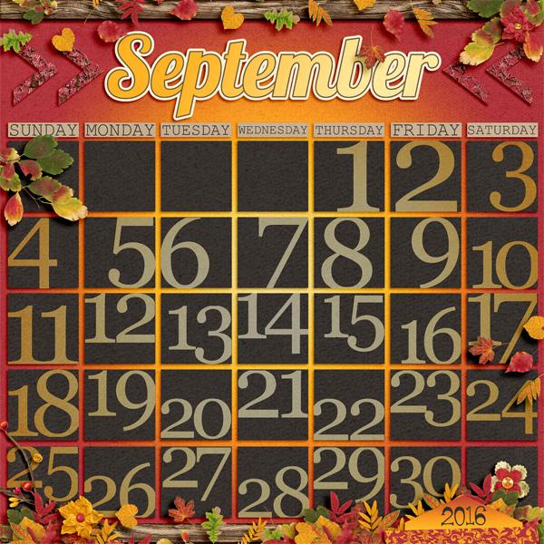 Digital Scrapbook Template Calendar Starter Scrapping With Liz