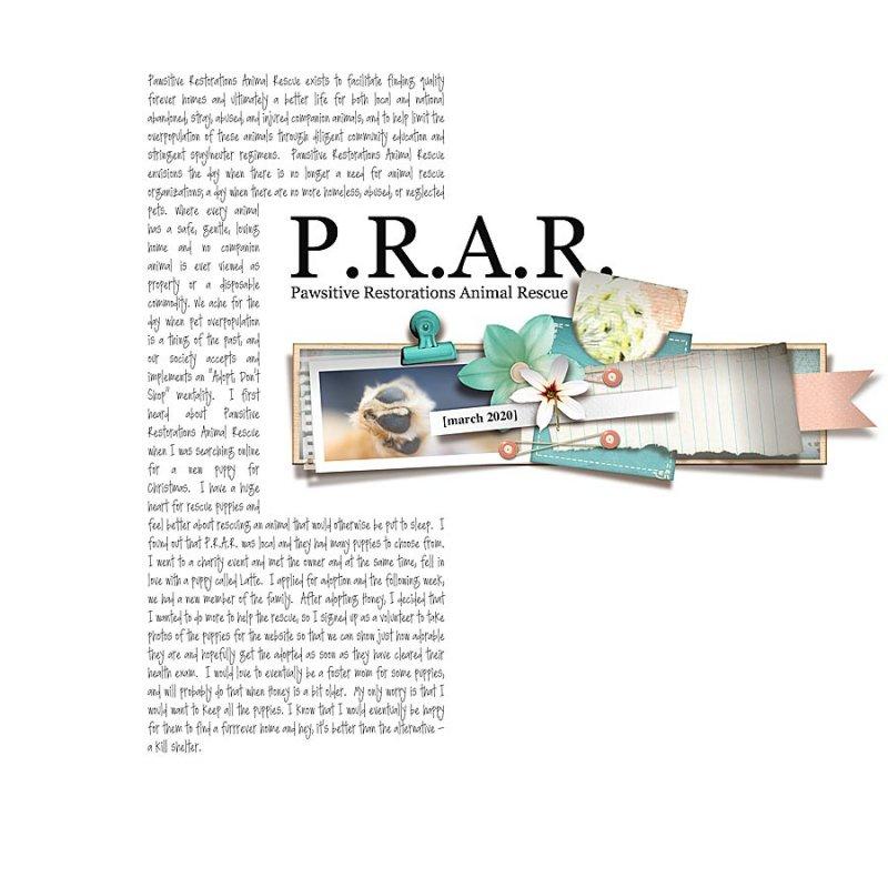 Digital Scrapbook Page by Farah
