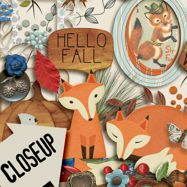 FOXY FALL Elements | by ForeverJoy Designs
