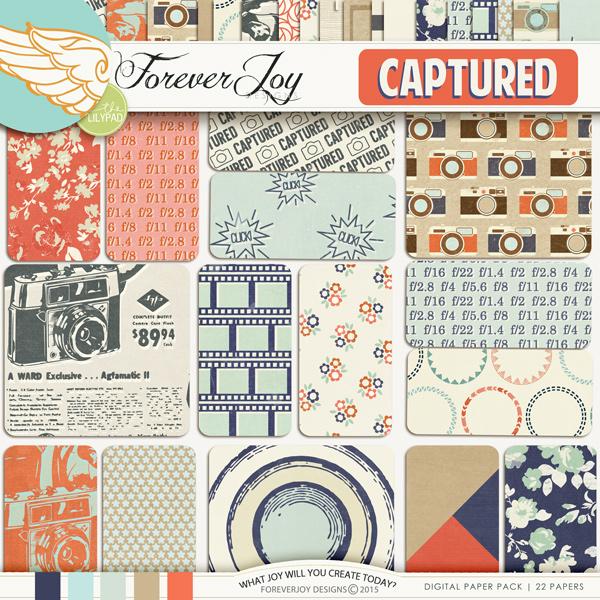 CAPTURED | Digital Scrapbooking Kit | by ForeverJoy Designs