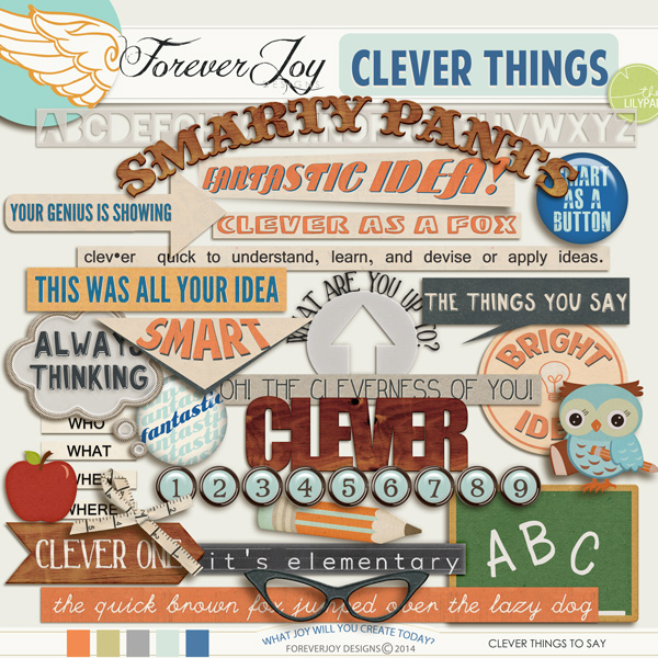 CLEVER THINGS Word Art |by ForeverJoy Designs