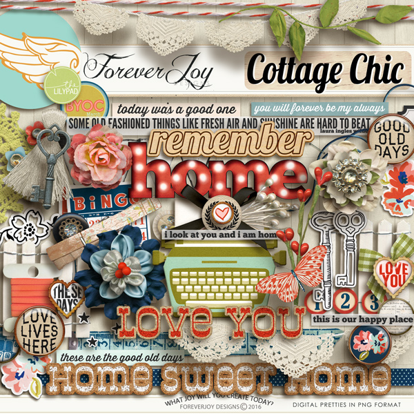 Digital Scrapbooking | COTTAGE CHIC  by ForeverJoy Designs