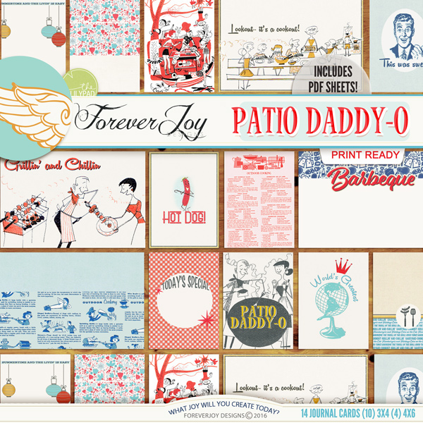 Awesome DIGITAL SCRAPBOOKING | FOREVERJOY DESIGNS | PATIO DADDY O