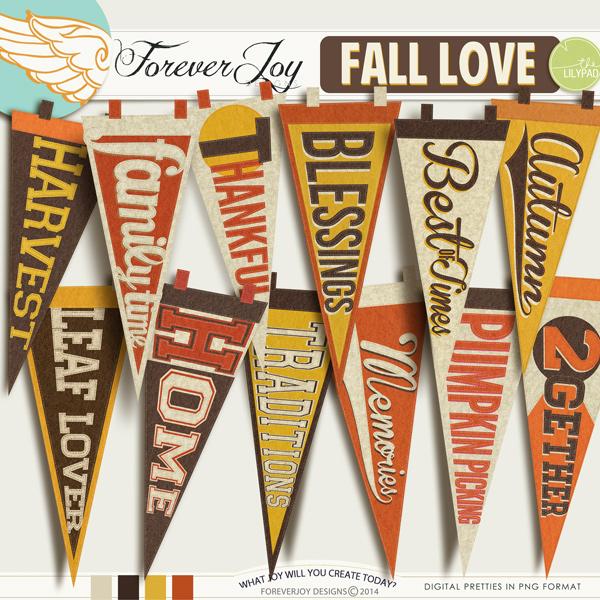 FALL LOVE PENNANTS | by ForeverJoy Designs