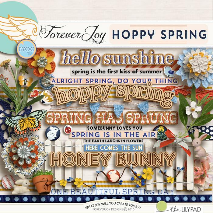 DIGITAL SCRAPBOOKING | FOREVERJOY DESIGNS | HOPPY SPRING